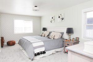 bedroom in new home build