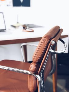office chair in new home executive suite